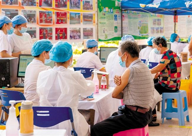 金平区疫苗接种进社区全面铺开